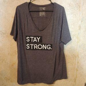 Terra & Sky Charcoal Short Sleeve Stay Strong Tee